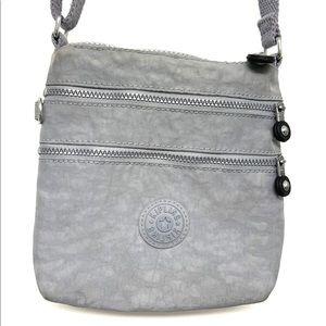 Kipling Small Mini Gray Nylon Crossbody Bag